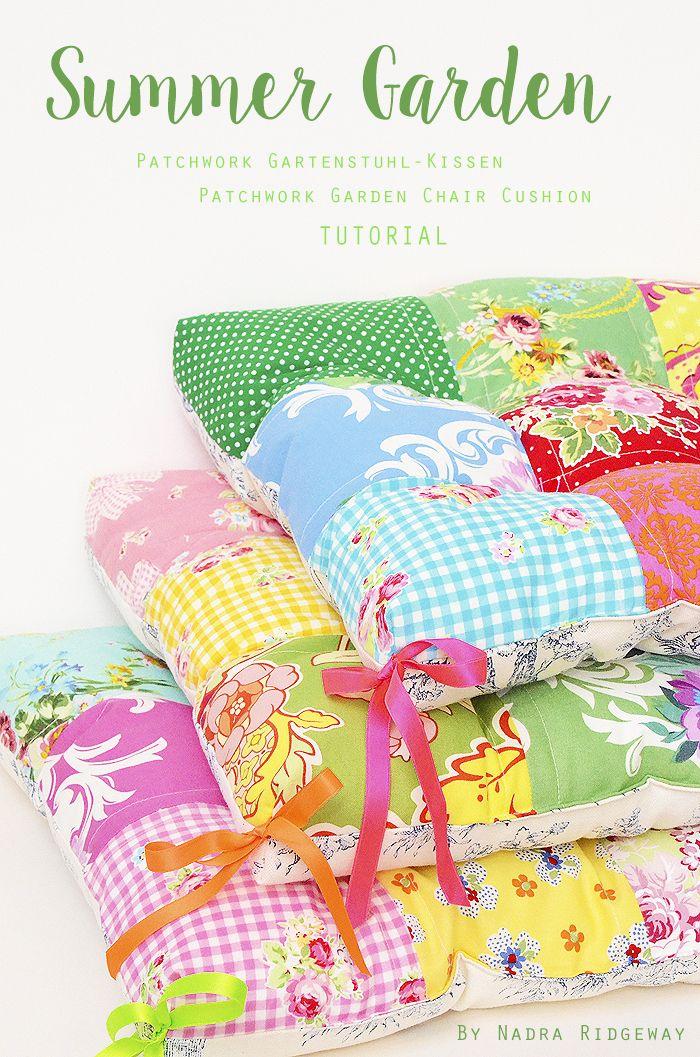 Garden Chair Cushion - Patchwork Gartenstuhl Kissen - Tutorial - Freebook