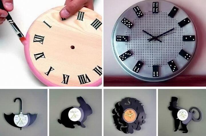 Как сделать настенные часы своими руками: лучшие мастер-классы ...