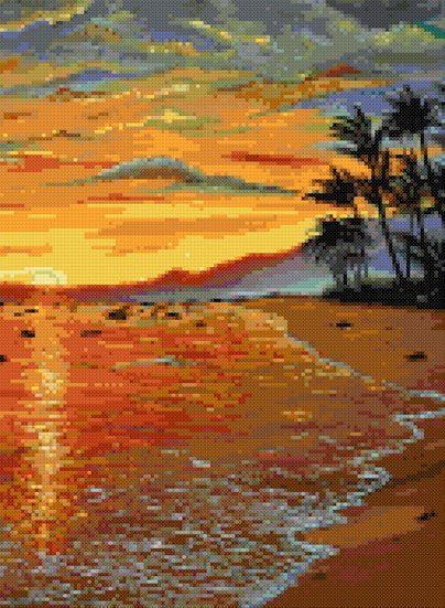 Island paradise summer cross stitch