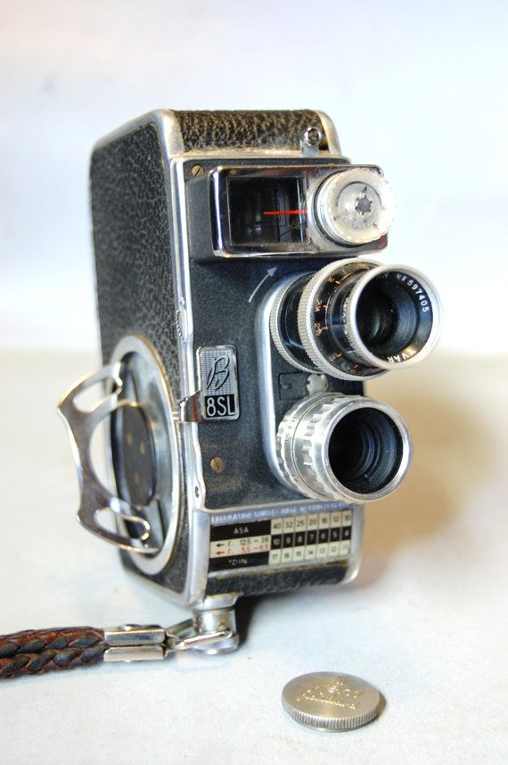 Vintage Bolex Paillard Cine B SL 8mm Movie Camera by C3L35T3, $45.00
