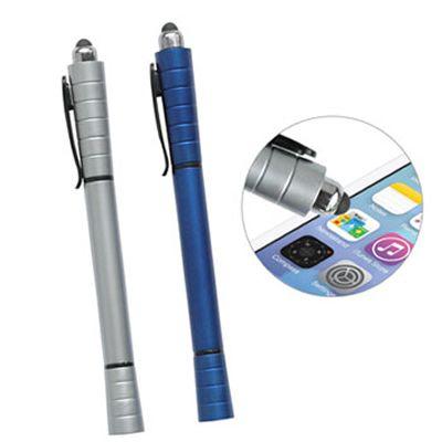 REF:ADVANT 3 EN 1 STYLUS Bolígrafo Plástico.  Bolígrafo con Stylus y Resaltador de Tinta. Tipo de Producto: IMPORTADO.  Medida de Bolígrafo: 15 cm largo. Área de Marca: 4.5 cm ancho x 0.7 cm alto.  Técnica de Marca: Tampografía.  Colores Disponibles: Azul Reflex y Silver.  Cantidad Mínima de Pedido:300