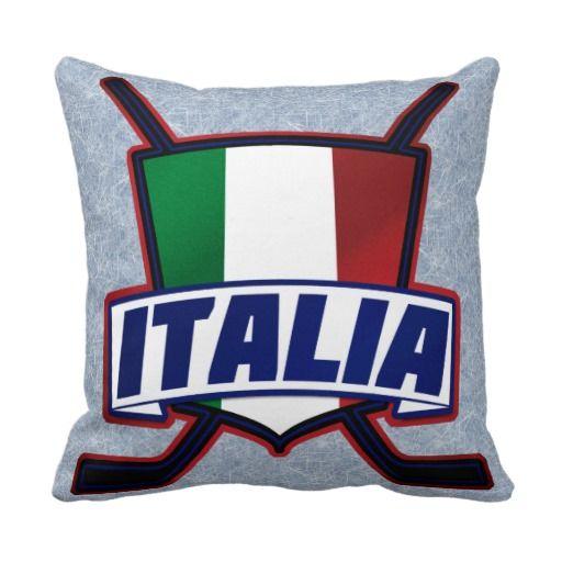 Italy Hockey su Ghiaccio Pillows, Team Italy ice hockey pillows