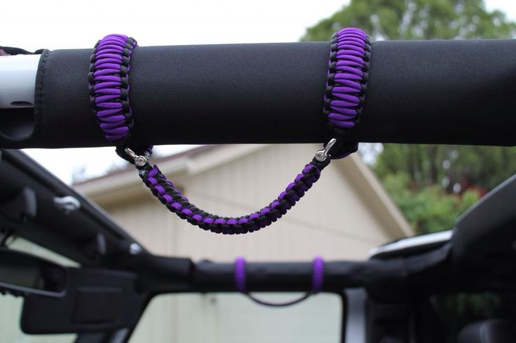 Custom Jeep Wrangler Paracord Grab Handles 2003 by ParacordGizmos, $43.00 by diybric.blogspot.com