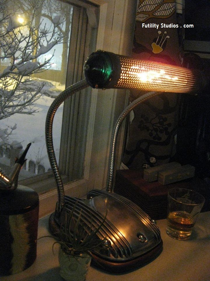 The Draftsman Motorcycle Parts Desk Lamp By Futility