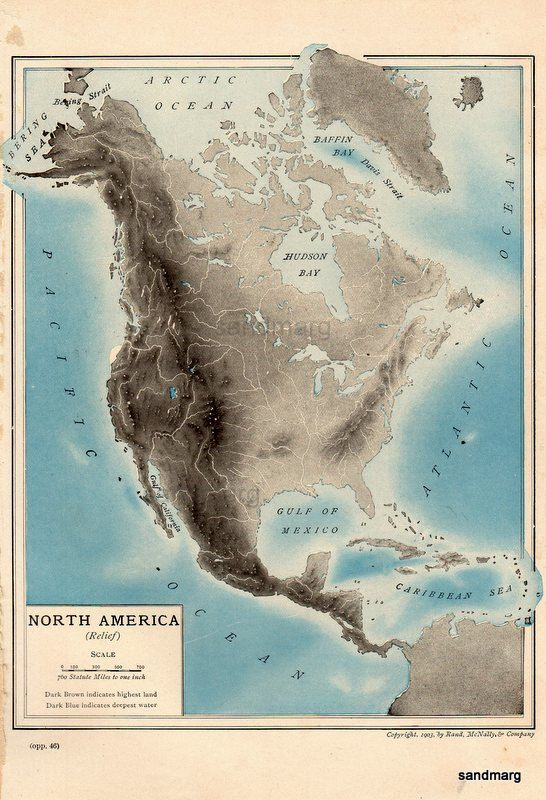 Best Relief Maps Images On Pinterest Cartography Maps And Cards - North america relief map