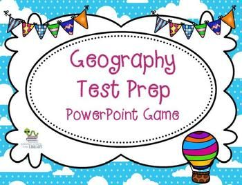 Geography Test Prep PowerPoint game for elementary students