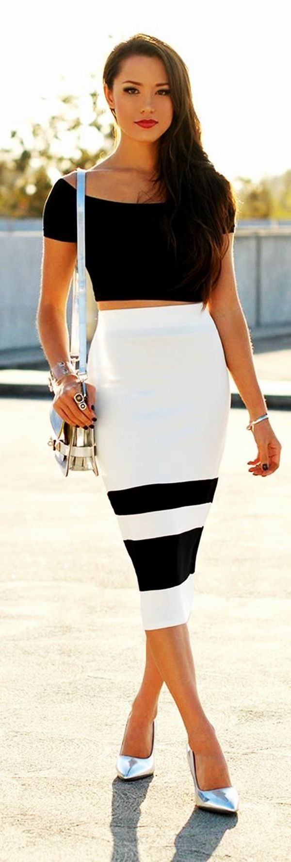 Trending Striped Skirt Outfits For 2016 - (30)