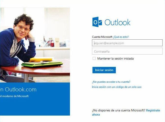 Hotmail iniciar sesion con tu cuenta de correo electronico