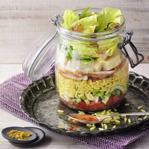 Curryreissalat mit Hähnchen