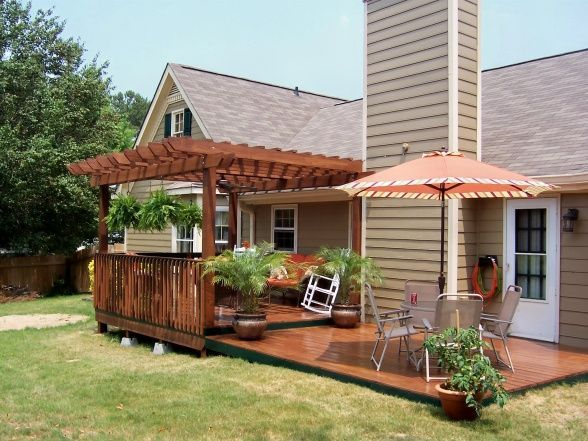 After my dyi deck and pergola the first step to the new for Backyard decks