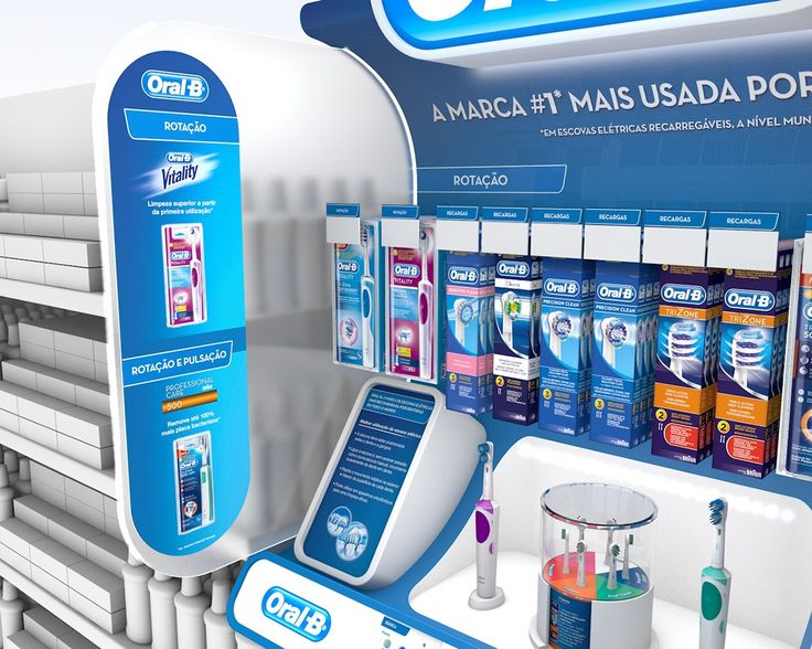 Design proposal for Oral B products organization in the POS.