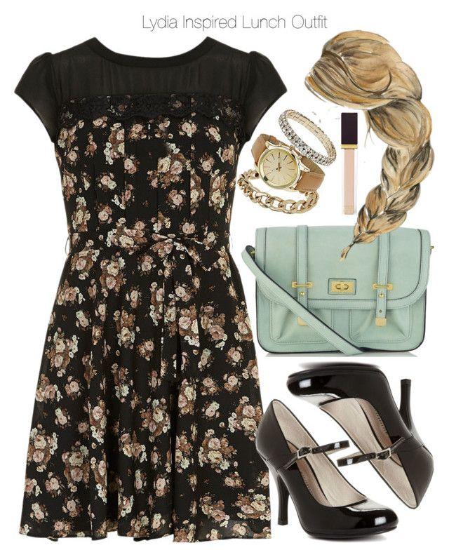 """""""Lydia Inspired Lunch Outfit"""" by veterization ❤ liked on Polyvore featuring Accessorize, Dorothy Perkins, Chinese Laundry and Tom Ford"""