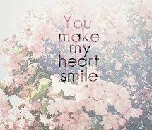 Inspiring image cute, flowers, heart, quote, love, happy, life, smile, pink, quote, inspiring, in love, just words