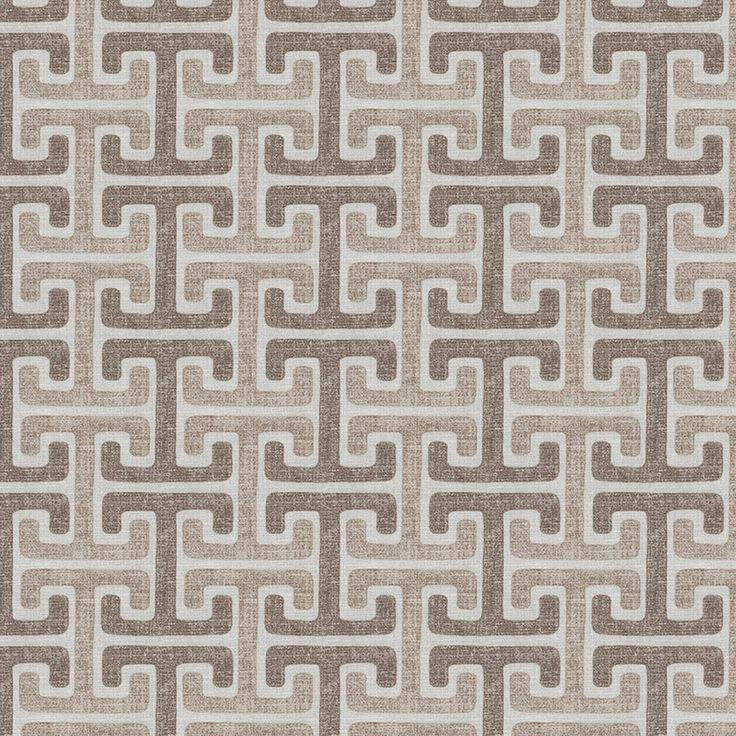 Taupe Taupe Global Prints Drapery and Upholstery Fabric – KOVI Fabrics
