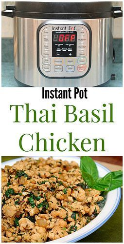Instant Pot Thai Basil Chicken tastes even better than take out. Perfect for a night in!