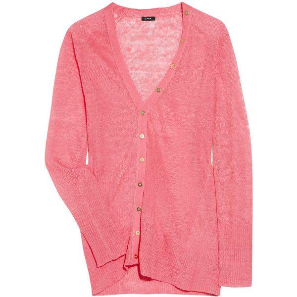 J.Crew Fine-knit linen cardigan ($100) ❤ liked on Polyvore