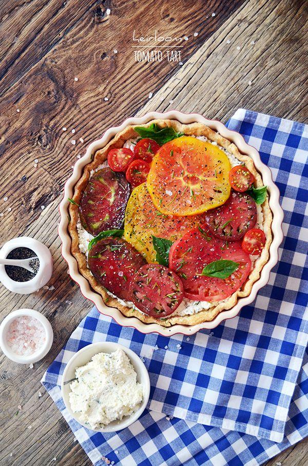 Heirloom Tomato Tart, perfect for summer dinner parties