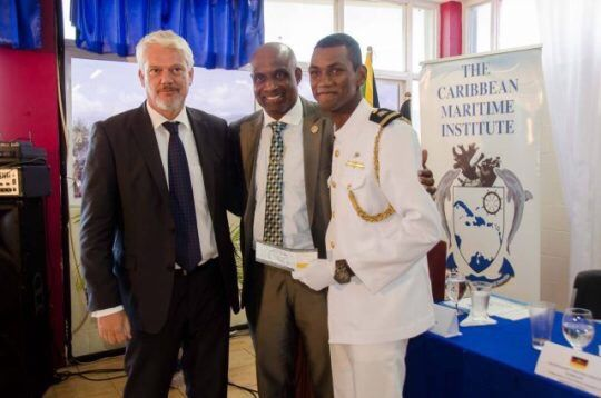 Caribbean Maritime University student is grateful to be the recipient of a scholarship to train at DNV GL in Germany