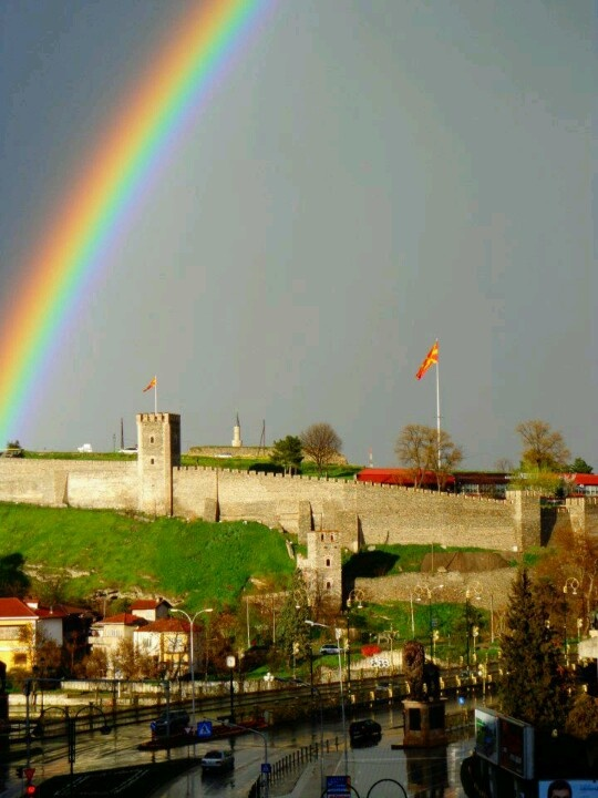 Rainbow in Skopje