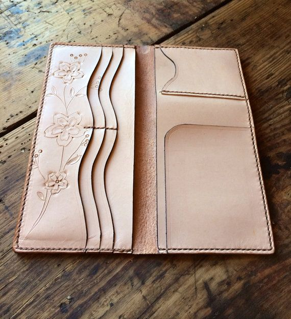 Handmade natural woman's wallet by CullowheeMtnLeather on Etsy, $150.00-SR