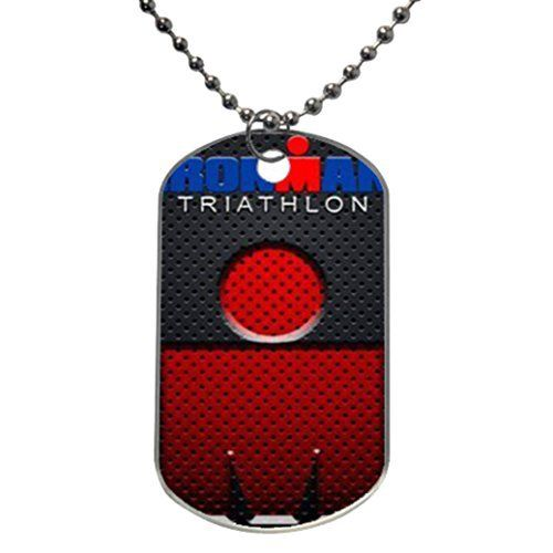 "Painted Ironman triathlon Custom Personalized Aluminum Dog Pet Tag,Comes with 30"" inches beads chain - http://www.exercisejoy.com/painted-ironman-triathlon-custom-personalized-aluminum-dog-pet-tagcomes-with-30-inches-beads-chain/fitness/"