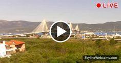 Panoramic view of the Bridge Harilaos Trikoupis in #Patras, #Greece. Enjoy it in live #webcam
