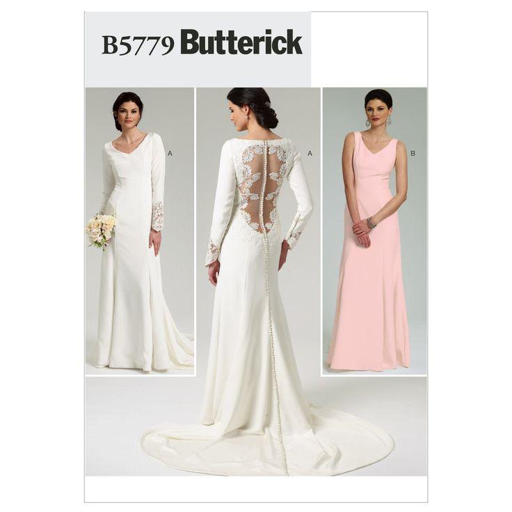Butterick BTK 5779 D5 (12-14-16-18-20) B5779 Schnittmuster zum Nähen, Elegant, Extravagant, Modisch