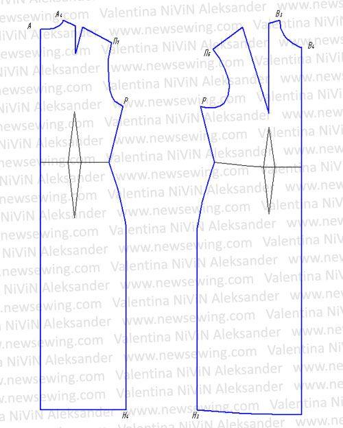 3f609151c5b683 Ночная сорочка. Построение выкройки. Пошаговая инструкция.. Обсуждение на  LiveInternet - Российский Сервис Онлайн-Дневников