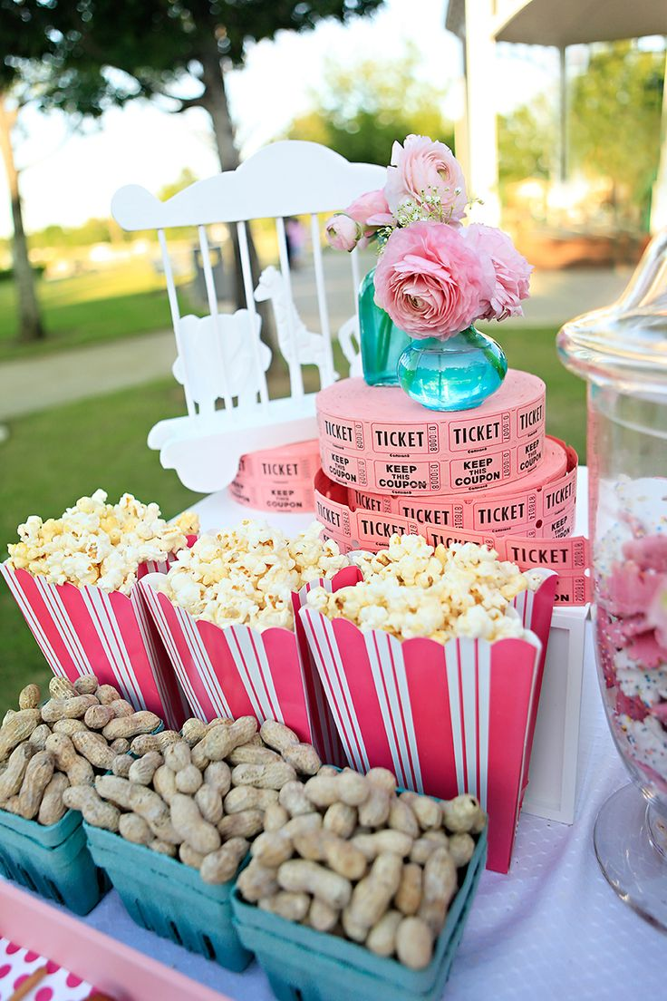 Vintage Carnival Birthday Party -- A great idea for a themed bridal or baby shower too!