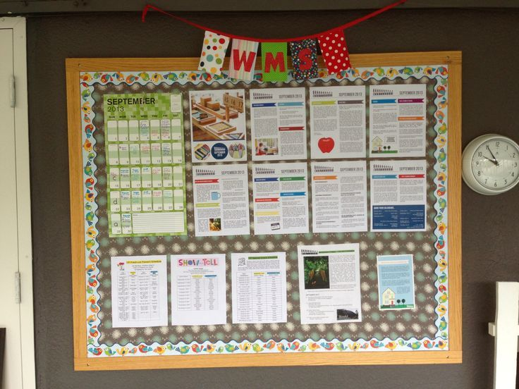 Parent Information Board #noticeboard @wmswms (Westside Montessori School, Vancouver, BC)