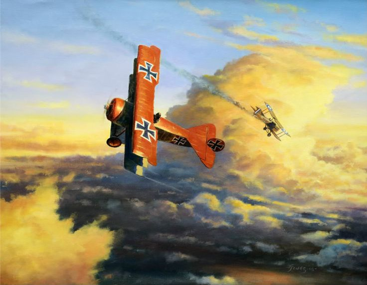 Another Trophy For The Baron, by Terry Jones (Fokker Dr.I vs SE5a)
