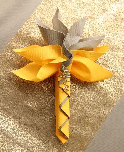 Décoration de table mandarine taupe or - Le blog d'articles-fetes.com : décoration, accessoires de table, astuces pour vos fêtes et votre mariage