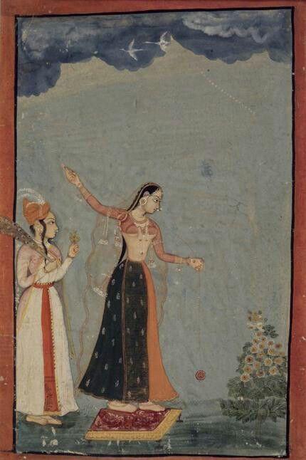 Year 1770, lady playing with YOYO!