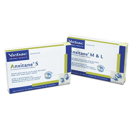 ANXITANE (L-Theanine) Chewable Tablets - Visit http://dvm360.com/FearFree to learn more about Fear-Free veterinary visits