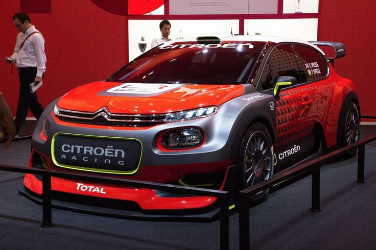 The Citroen C3 WRC looks compact and angry in person