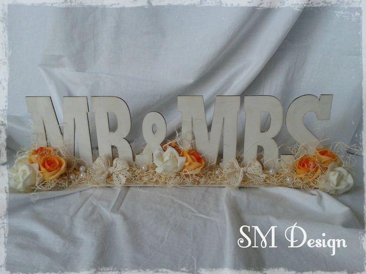 Mr&Mrs - Vintage esküvői asztaldísz  https://www.facebook.com/steiguszdesign/photos/pb.1412029162365217.-2207520000.1438622432./1677350729166391/?type=3