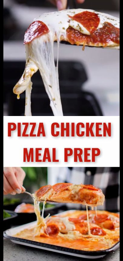 You may not be able to eat pizza every day, but you definitely can enjoy this Pizza Chicken Meal Prep!  When your craving for pizza kicks in (sometimes daily for us!) you can satisfy your craving with this protein-packed, low carb Pizza Chicken Meal Prep that can be made for less than $4! #pizza #mealprep #keto #recipe