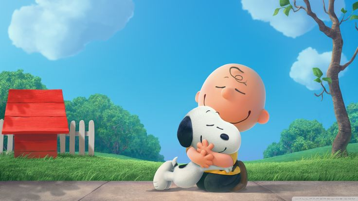 The Peanuts Snoopy and Charlie Movie HD desktop wallpaper