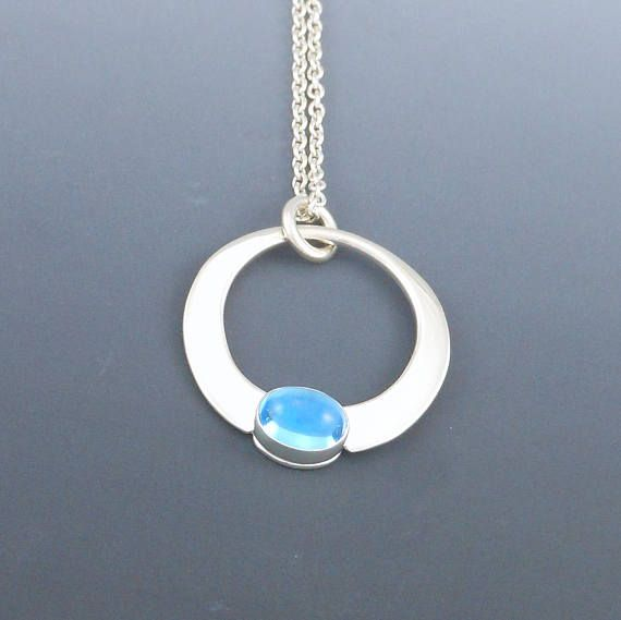The 8 best handmade pendants images on pinterest artisan jewelry blue topaz pendant forged sterling silver pendant modern mozeypictures Choice Image