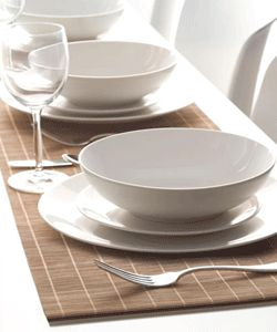 Modern Tableware And Natural Fabrics For Table Decoration In Eco Style