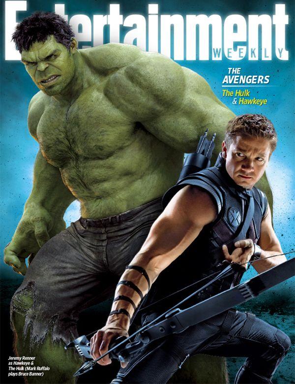 Hulk & HawkeyeAvengers Entertainmentweek, Hawkeyehulk Covers, Marvel Film, Marvel Movie, Entertainment Weeks, Ew Hawkeyehulk, Super Heroes, Magazines Covers, The Avengers