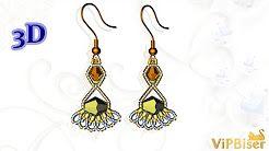 beaded earrings bella - YouTube