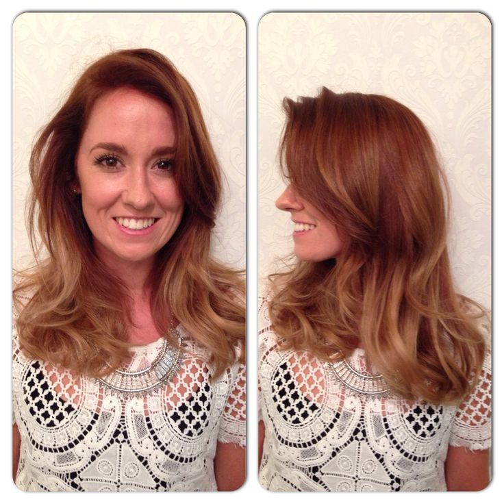 Golden Copper ombré/Ballyage  www.chillicouture.com.au