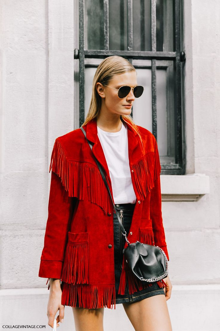 Red Long Blazer Outfit