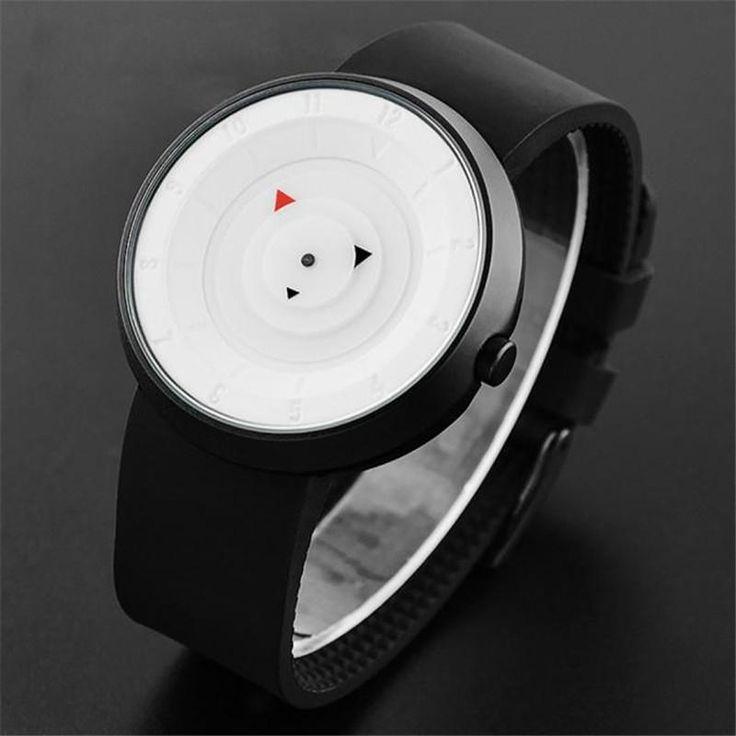Designer Modern Analog Quartz Sport Wrist Watch with Leather Bands