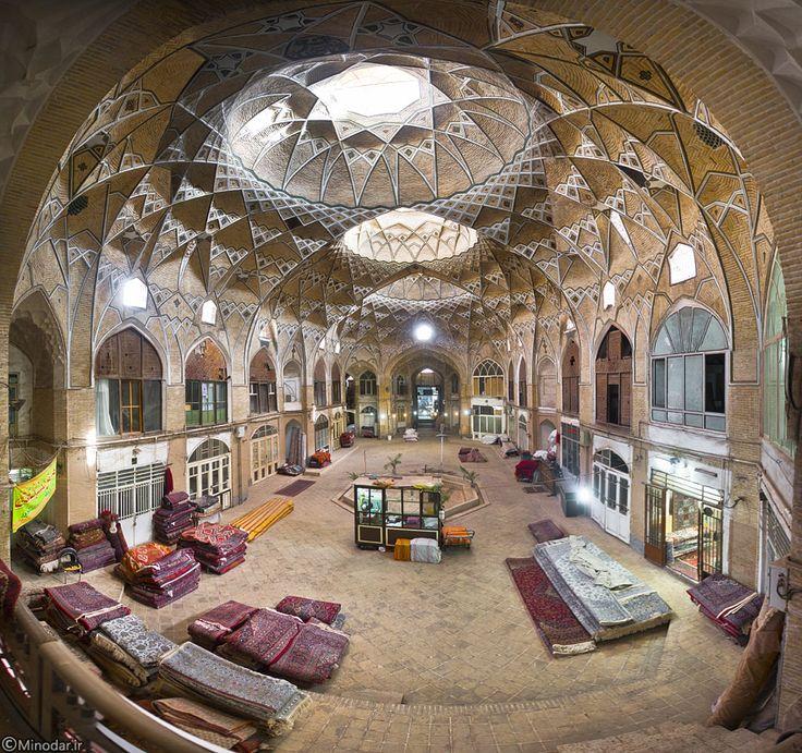 Persian Architecture Old Qom Bazaar Iran Persian