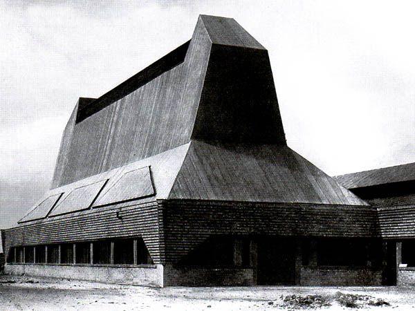 Erich Mendelsohn, Friedrich Steinberg Hat Factory, Hermann & Co. in Luckenwalde, Germany, 1921-1923