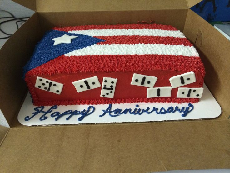 Puerto Rican flag with dominoes
