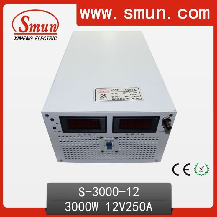 320.00$  Buy now - http://alisry.worldwells.pw/go.php?t=1062717990 - 3000W 12V 250A High Efficiency Single Output AC/DC Switching Mode Power Supply SMPS For Industrial Contrl System 320.00$
