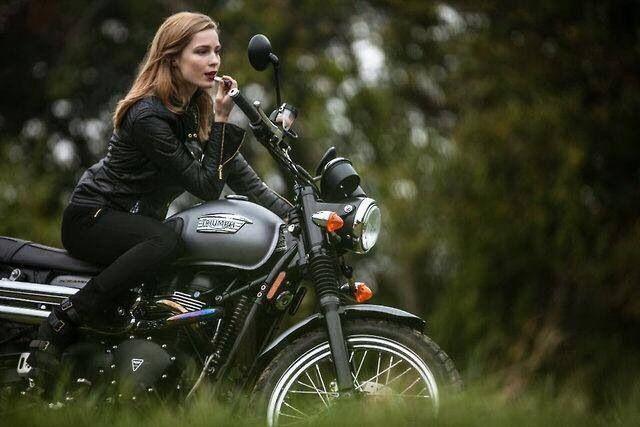 Women Riding Motorcycles.                         Girls on Bikes.                                              Biker Babes.